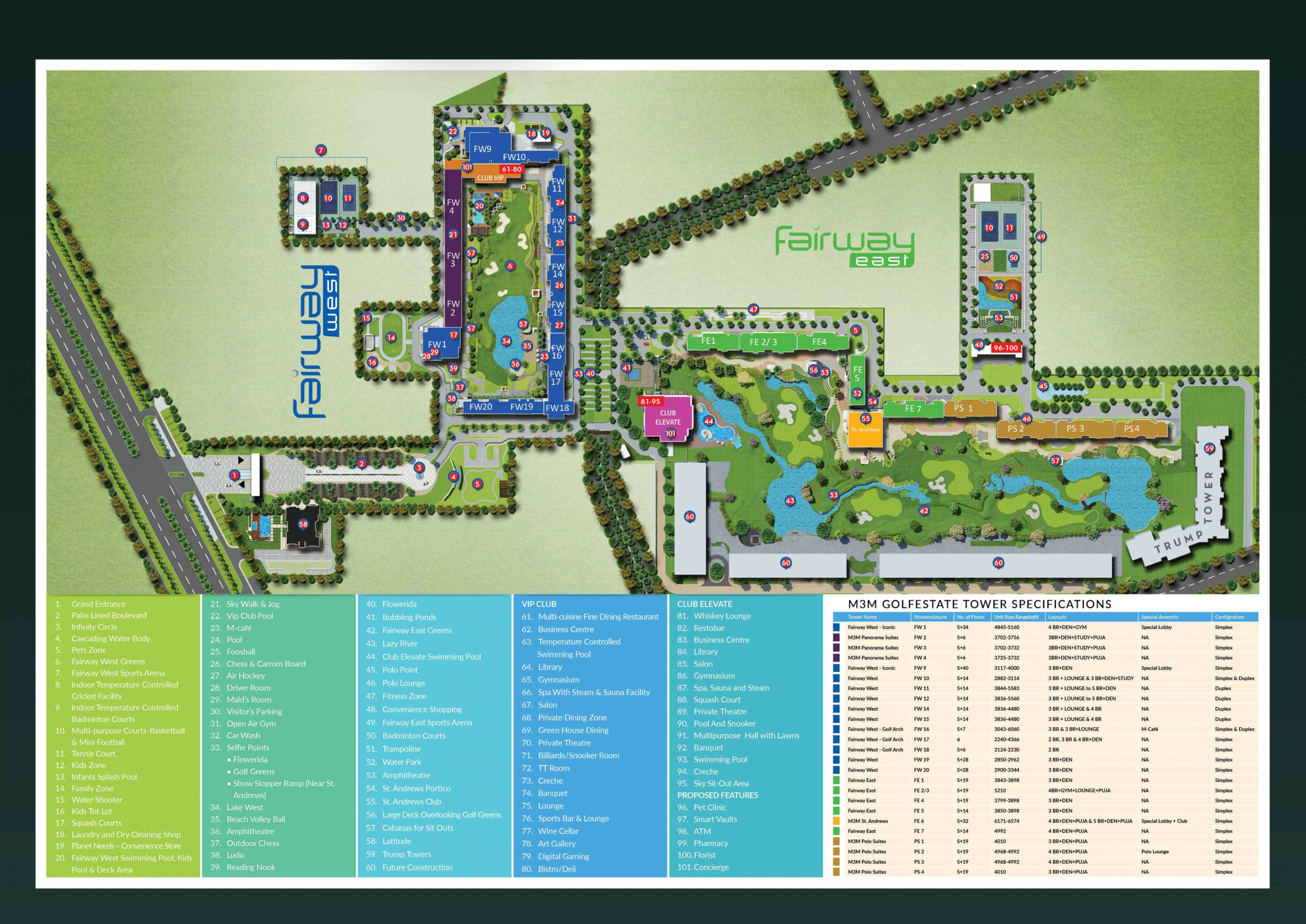 M3M Golf estate Master Plan