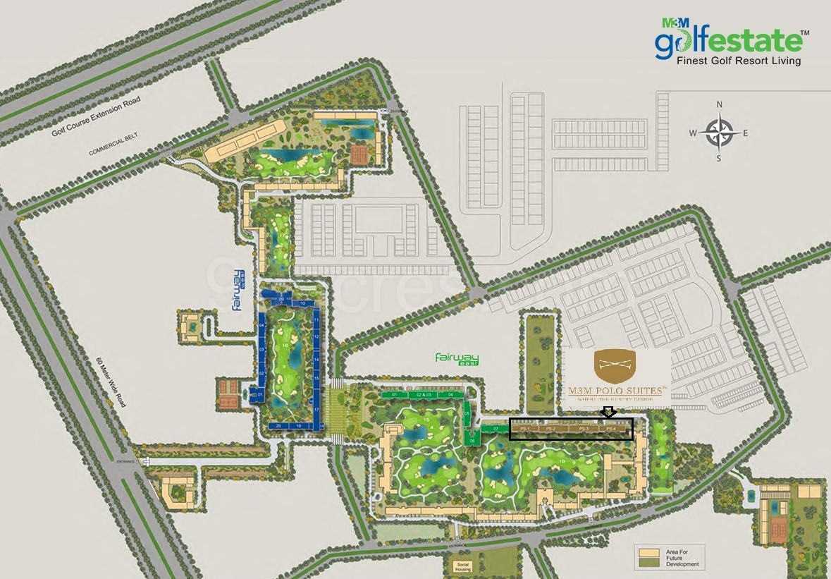 M3M-Polo-Suites-Site-Plan