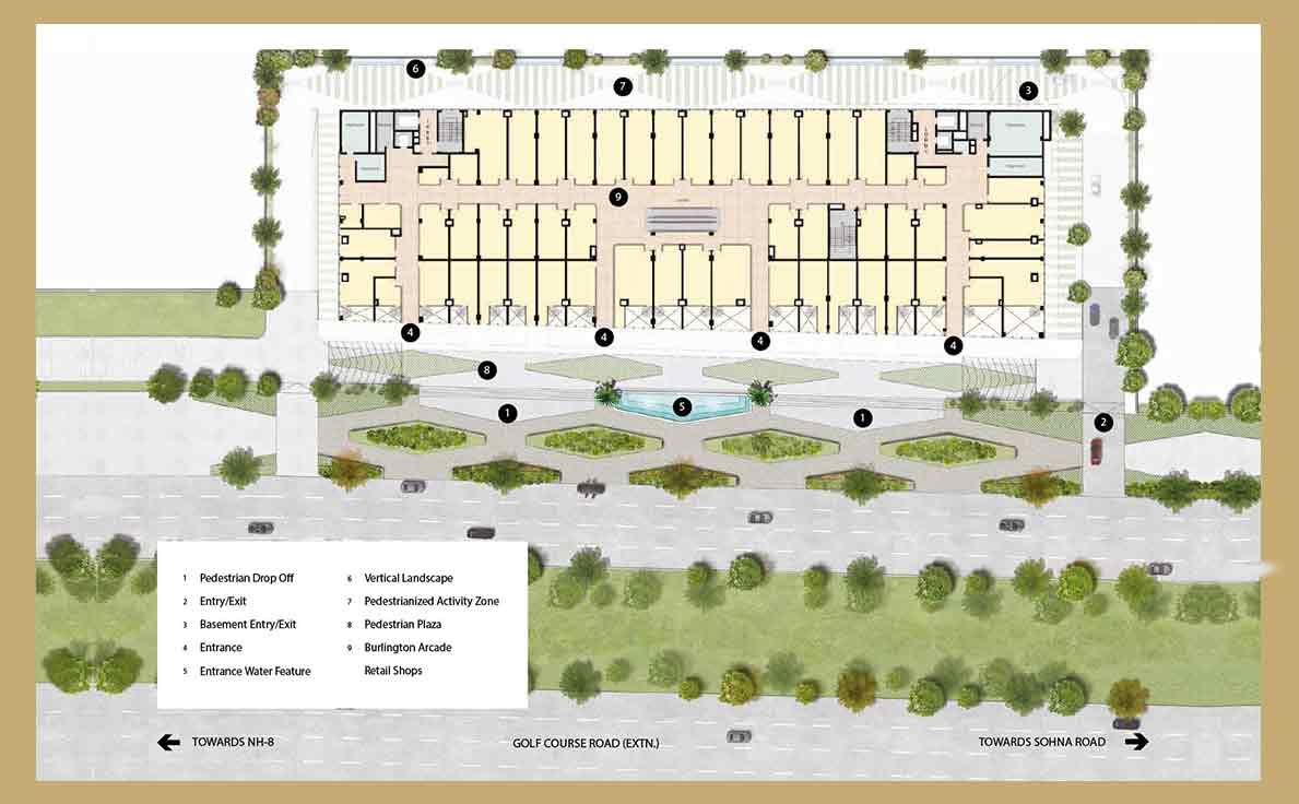 M3M Prive 73 Site Plan