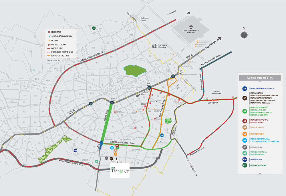 M3M-Tee-Point-Location-Map