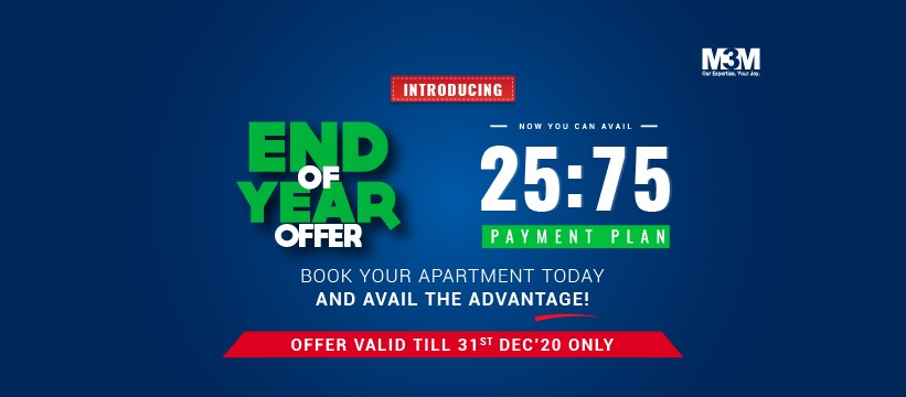 Time to Live Your Dream of Buying a Home with M3M End of Year Offer